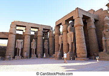 Inside view of Luxor temple