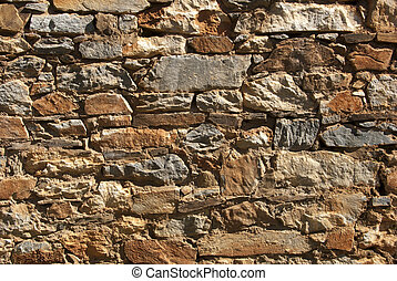 Rubble Rock Wall - High contrast shot of rubble rock wall...