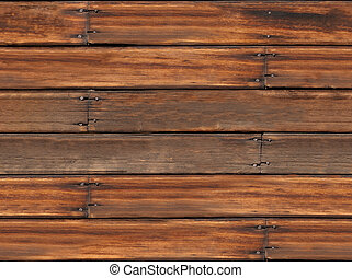 Seamless Old Wood Plank Background - Weathered, aged,...