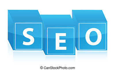 Seo cubes illustration design on white background
