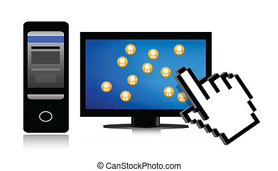 social network and cursor