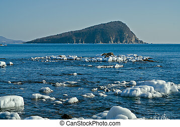 Small island in winter sea 5 - The small island in winter...