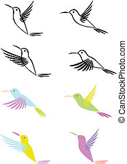 Hummingbird - Vector illustration of artistic hummingbird