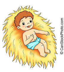 Jesus child - colored illustration of Jesus child