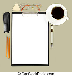 abstract business background with office supply