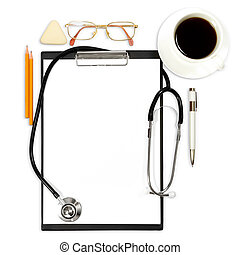 abstract medical background with office supply