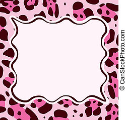 frame with abstract leopard skin texture - vector frame with...