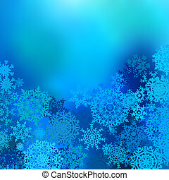 Winter snow background with snowflakes EPS 8 vector file...