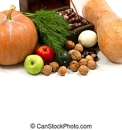 chest with walnuts and pumpkin - chest with walnuts, pumpkin...