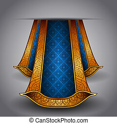Vector luxury royal fabric - Vector illustration. Be able...