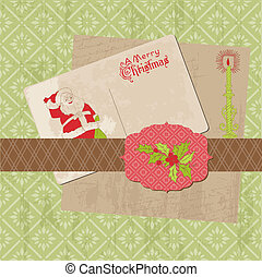 Scrapbook Christmas Vintage Design Elements in vector