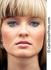 Young Woman - Close-up of face of young woman, full frame