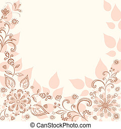 Abstract flower background - Abstract pink background with a...
