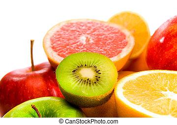 Big assortment of fruits