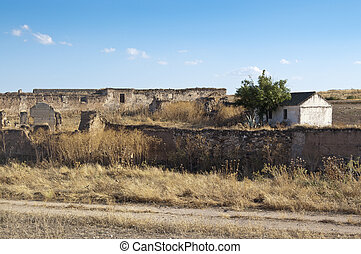 Hamlet - Old hamlet in an arable landscape in Ciudad Real...