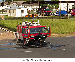 Fire Truck at Banjul Airport in The Gambia