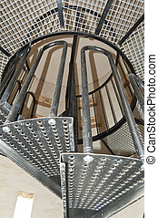 Spiral starway - A spiral staircase inside a dove cote