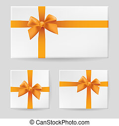 Green gift bow Illustration on gray background for design