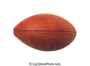 rugby ball isolated over a white background