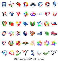 48 different colorful vector icons: (set 6)