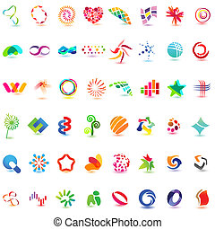 48 different colorful vector icons: set 5