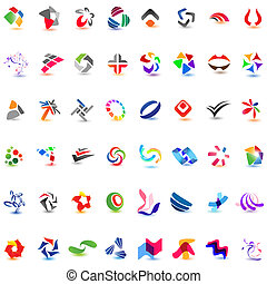 48 different colorful vector icons: (set 7)