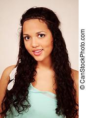 Beautiful ethnic girl smiling