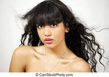 Lovely latino or hispanic girl - Young beautiful latina or...