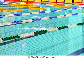 Lane are limited floats in  swimming pool