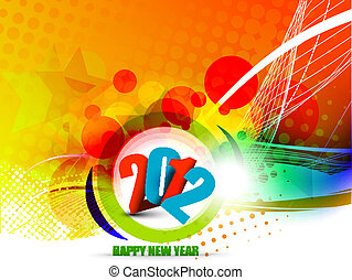 New year 2012 poster background. Vector illustration