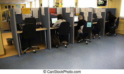 Call centre office - Real call centre