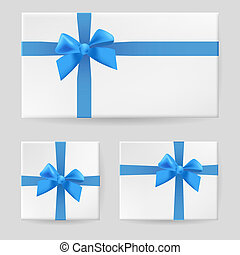 Yellow gift bow Illustration on gray background for design