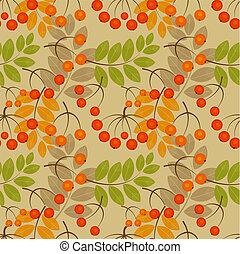 Rowan seamless pattern - Rowan berry seamless texture....