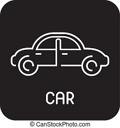 Car - isolated vector icon