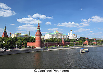 Moscow Kremlin in summer