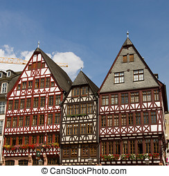 Historical Frankfurt Main, G - The famous historical Romer...