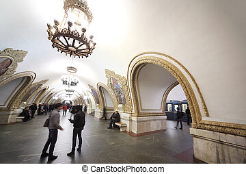 MOSCOW - FEBRUARY 2: national architecture monument - metro...