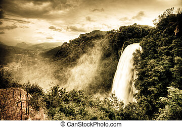 Marmore waterfalls Cascate delle Marmore, Umbria, Italy