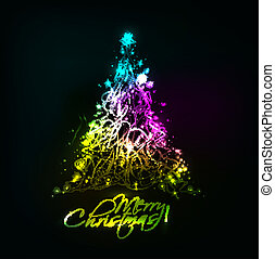Christmas colorful design - abstract background christmas...