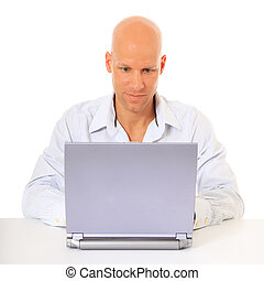 Man working with computer