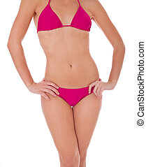 Torso of a woman in bikini - Torso of an attractive woman in...