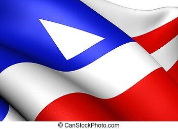 Flag of Bahia, Brazil. Close up.