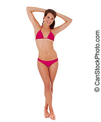 Attractive woman in bikini. - Full length shot of an...