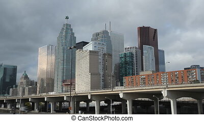 Toronto financial Timelapse - View of Toronto financial...