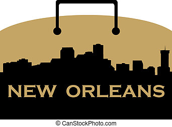 New Orleans shopping - City of New Orleans high rise skyline...