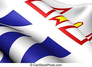Flag of Newfoundland and Labrador, Canada. Close up.