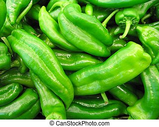 green peppers - background of green peppers