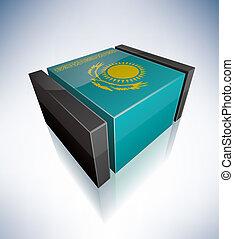 3D flag of Kazakhstan