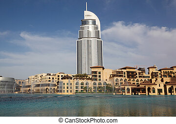 DUBAI - APRIL 17: Burj Dubai Lake Hotel and other buildings...