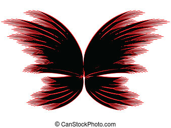 Abstract butterfly - Abstract red-black butterfly
